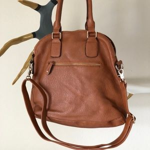 Street Level Bags - Street Level Cognac Crossbody with shoulder straps